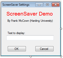 Creating a Screen Saver with C#